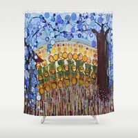 :: Indiana Blue Willow :: Shower Curtain by :: GaleStorm Artworks ::