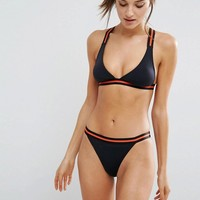 Free Society T Bar Tape Triangle Bikini at asos.com