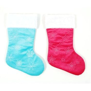 Felt Embroidered Christmas Stockings - 36 Units