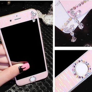 Iphone6s toughened membrane before and after apple 6 splus toughened glass membrane full screen mobile phone sticker