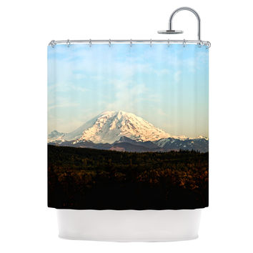 "Sylvia Cook ""Mt. Rainier"" Mountain Photo Shower Curtain"