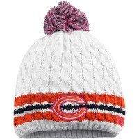 New Era Chicago Bears Women's White 2014 Breast Cancer Awareness Knit Hat With Pom