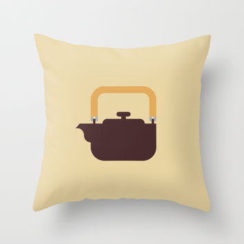 Japan Teapot Throw Pillow by Christopher Dina