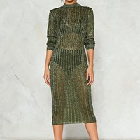 In Knit for the Long Haul Knit Dress