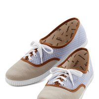 ModCloth Menswear Inspired Friendly Competition Sneaker in Dots