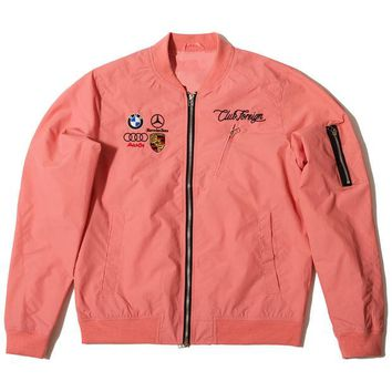 ONETOW Club Foreign Light Bomber Jacket Light Pink