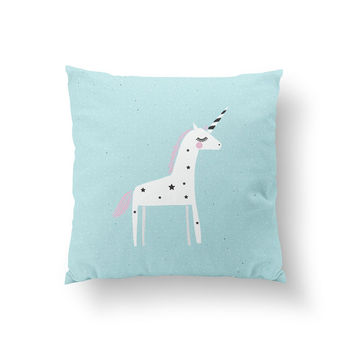 Unicorn Pillow, Girly Pillow, Home Decor, Cushion Cover, Throw Pillow, Bedroom Decor, Bed Pillow, Decorative Pillow, Nursery Decor,
