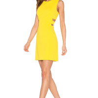 1. STATE Cut Out A Line Dress in Yellow Zest | REVOLVE