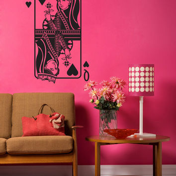 Vinyl Wall Decal Sticker Queen of Hearts #OS_DC360