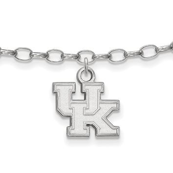 NCAA Sterling Silver University of Kentucky Anklet, 9 Inch
