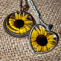 Sunflower Pendant Necklace Jewelry