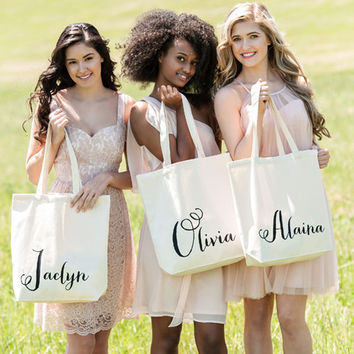 Personalized Calligraphy Name Tote
