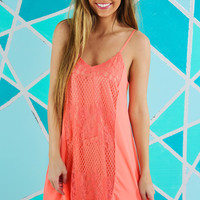 Call Me Maybe Dress: Neon Coral