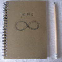 Our Love is infinite  (Infinity collection) - 5 x 7 journal
