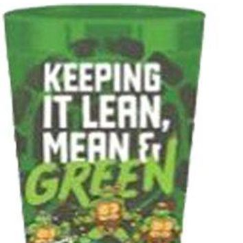 "32oz Teenage Mutant Ninja Turtles (TMNT) OFFICIAL ""Keeping It Lean, Mean & Green"" with Donatello, Leonardo, Michelangelo & Raphael PREMIUM Stadium Cup NOVELTY GIFT"