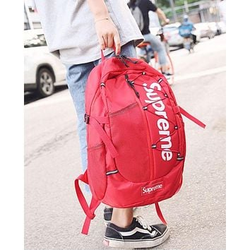 Supreme Fashion Sport Laptop Bag Shoulder School Bag Backpack
