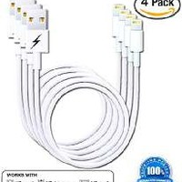 Certified iPhone 6/6 Plus Charging Cable. 8-pin Lightning Cord USB for iPhone 6 & 6 Plus/5/5s/5c & iPads - Portable White Connector for Home or Travel - Fits iPad Mini, iPad Air, iPod Nano and iPod Touch & iPhone 5's - Genuine Authentication Chip Ensures t