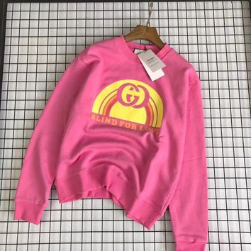 d11a3d4a80d GUCCI   HOT SALE Round neck letters printed long sleeve sweat