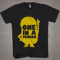 One In A Minion  Mens and Women T-Shirt Available Color Black And White