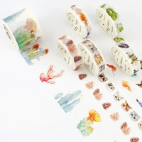 1 Pcs / Pack New 7m Cartoon Cat Paper Washi Tapes Sailor clothes washi tape Masking Tape Decorative Adhesive Tapes