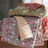 Leila Block-Print Mini Quilt | Pottery Barn