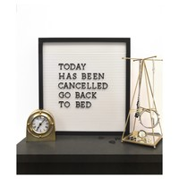 New View 16''x16'' White Letter Board with Black Trim