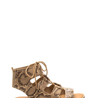 Adventure Time Faux Snakeskin Sandals