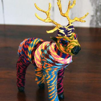 Bohemian Chindi Handmade Fabric Animal Ornaments