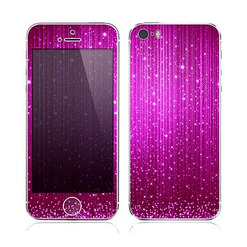 The Abstract Pink Neon Rain Curtain Skin for the Apple iPhone 5s