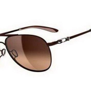 Oakley Daisy Chain Women Brunette Dark Brown Gradient Sunglasses