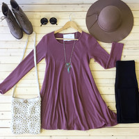 Soft Kitty Tunic in Mauve