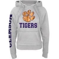 Clemson Tigers - Foil Logo Juniors Pullover Hoodie
