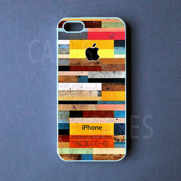 Iphone 5 Case -  Colorful Wood Iphone 5 Cover