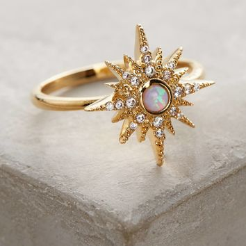 Opalescent Sunburst Ring