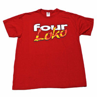 Red Four Loko Shirt Mens Size Large