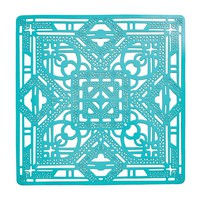 Filigree Placemat in Turquoise - Set of 4