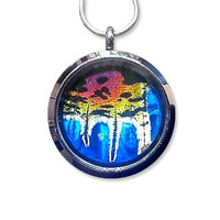 Real Rainbow Butterfly / Moth Locket
