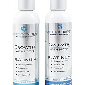 Organic Argon Oil and Biotin Hair Growth Shampoo - Sulfate Free - Support Regrowth, Volumizing & Moisturizing, Soft on Curly & Color Treated Hair For Men and Woman