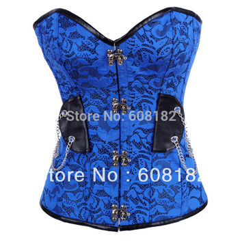 waist training corsets  HOT  Women Clothing Steel Bone Satin Sexy Lingerie  Corset  Retail 3891