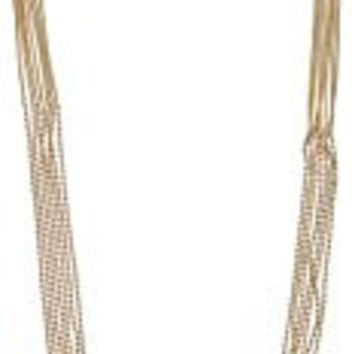 Long Gold Multiple Strand Necklace