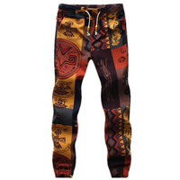 Mens Ankle Floral Harem pants men vintage jogger hip hop harajuku pantalones trousers plus size 4XL 5XL = 1958647044