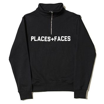 Places + Faces Hoodies P+F Sweatshirts jacket men women tracksuit pullover hip hop streetwear oversized harajuku winter brand coat parka