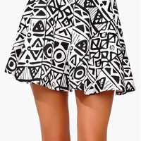 Necessary Skater Skirt - Ivory/Black