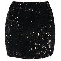 The Sequin Black Skirt