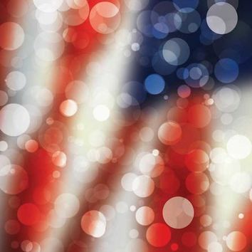 FLAG BOKEH PATRIOTIC TITANIUM CLOTH BACKDROP - 5x6 - LCTC1457 - LAST CALL