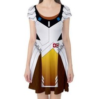 Overwatch Cosplay Mercy Dress Valkyrie Suit Armor