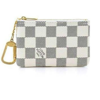 "Gotopfashion LV White Key Bag""Louis Vuitton"" LV Key Pouch Clutch Bag Coin Purse Women Small Wallet"