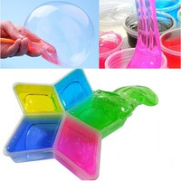 slime transparent cristal transparent color silly  for kids toys crazy slime