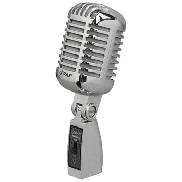 Pyle Pro Classic Retro Vintage-style Dynamic Vocal Microphone (silver)