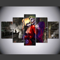 Joker And Harley Quinn Canvas Painting